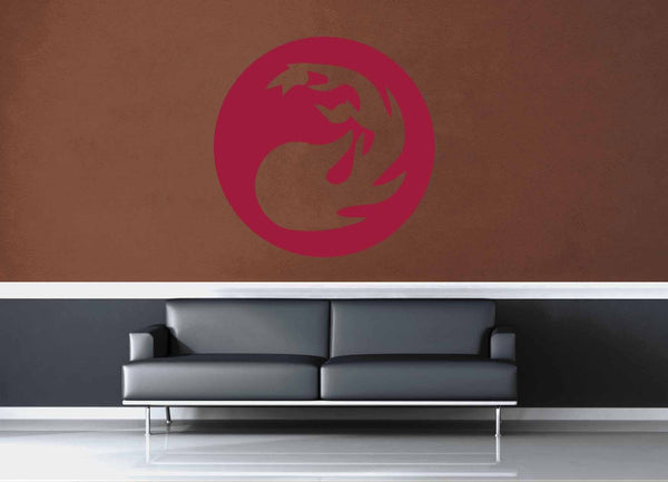 Mountians - Red - MTG Mana Circle - Gamer Décor - Wall Decal - geekerymade
