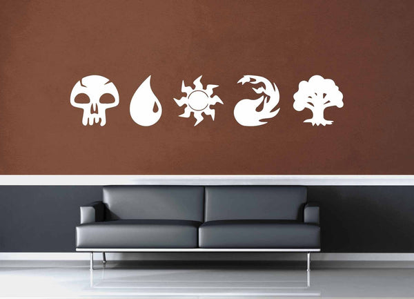Magic the Gathering Mana Set - Wall Decal - geekerymade
