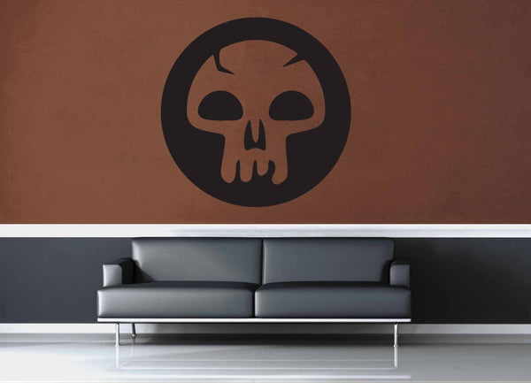 Swamp - Black - MTG Mana Circle - Gamer Décor - Wall Decal - geekerymade