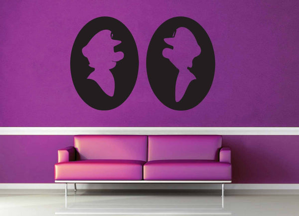 Luigi and Mario Cameo Set - Gamer Decor - Wall Decal