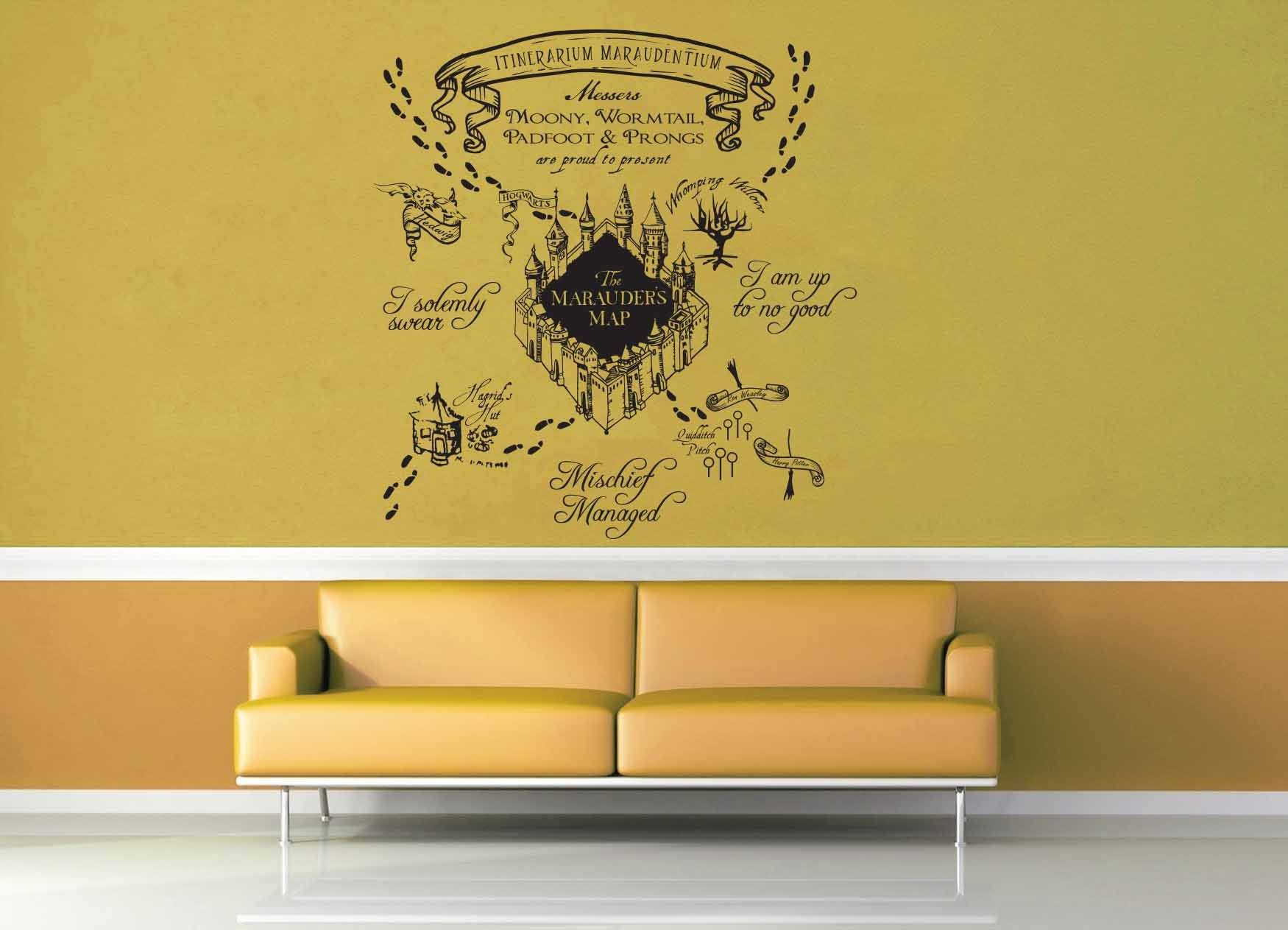 Beau Marauderu0027s Map   Harry Potter   Wall Decal