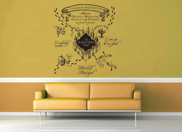 Marauder's Map - Harry Potter - Wall Decal - geekerymade