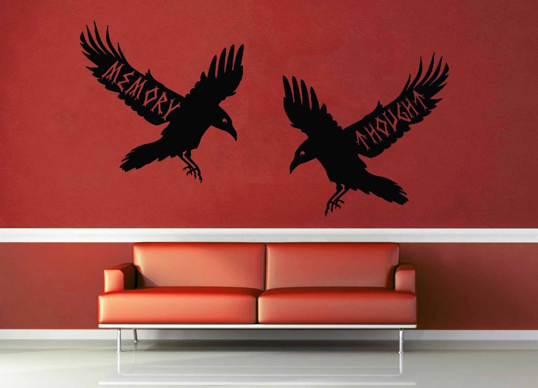Huginn and Muninn - Norse Mythology - Wall Decal - geekerymade