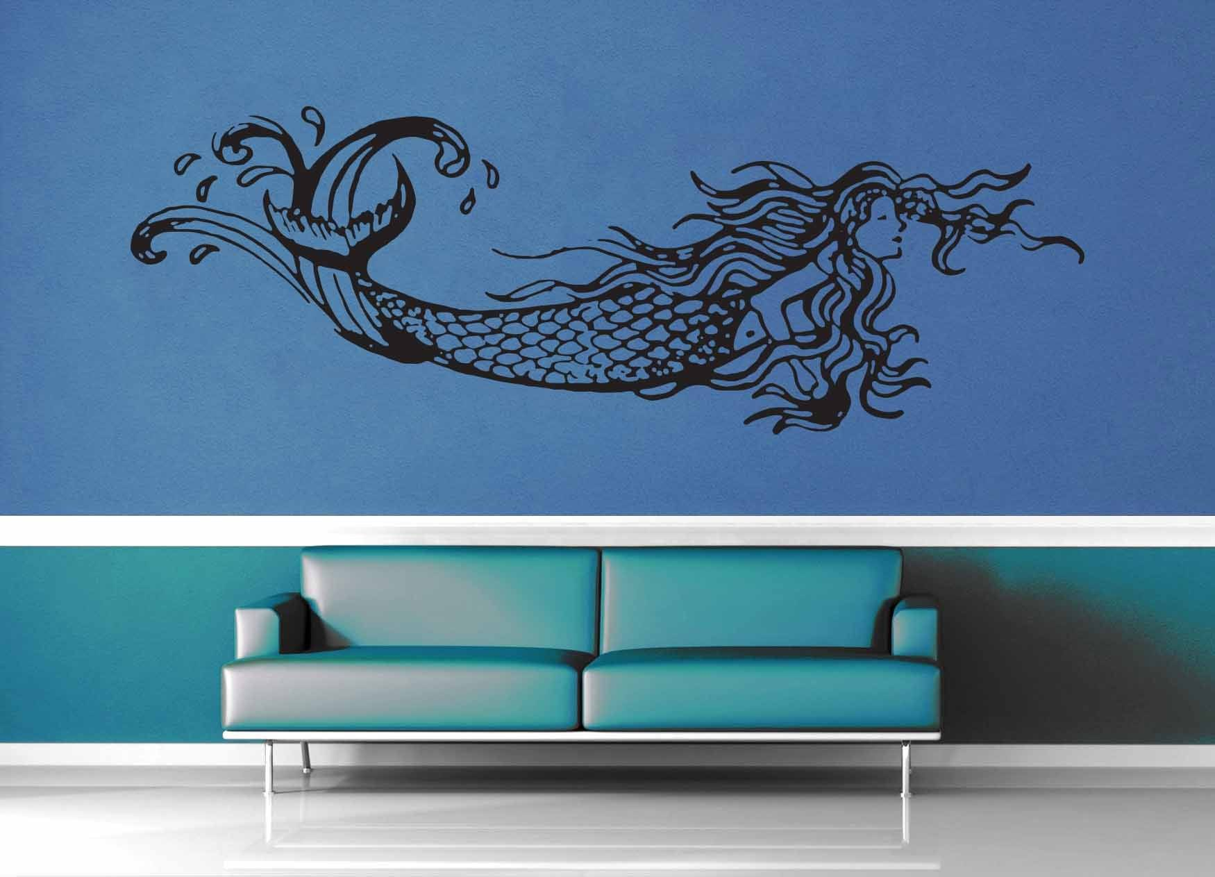 Mermaid - Wall Decal - No 2 - geekerymade