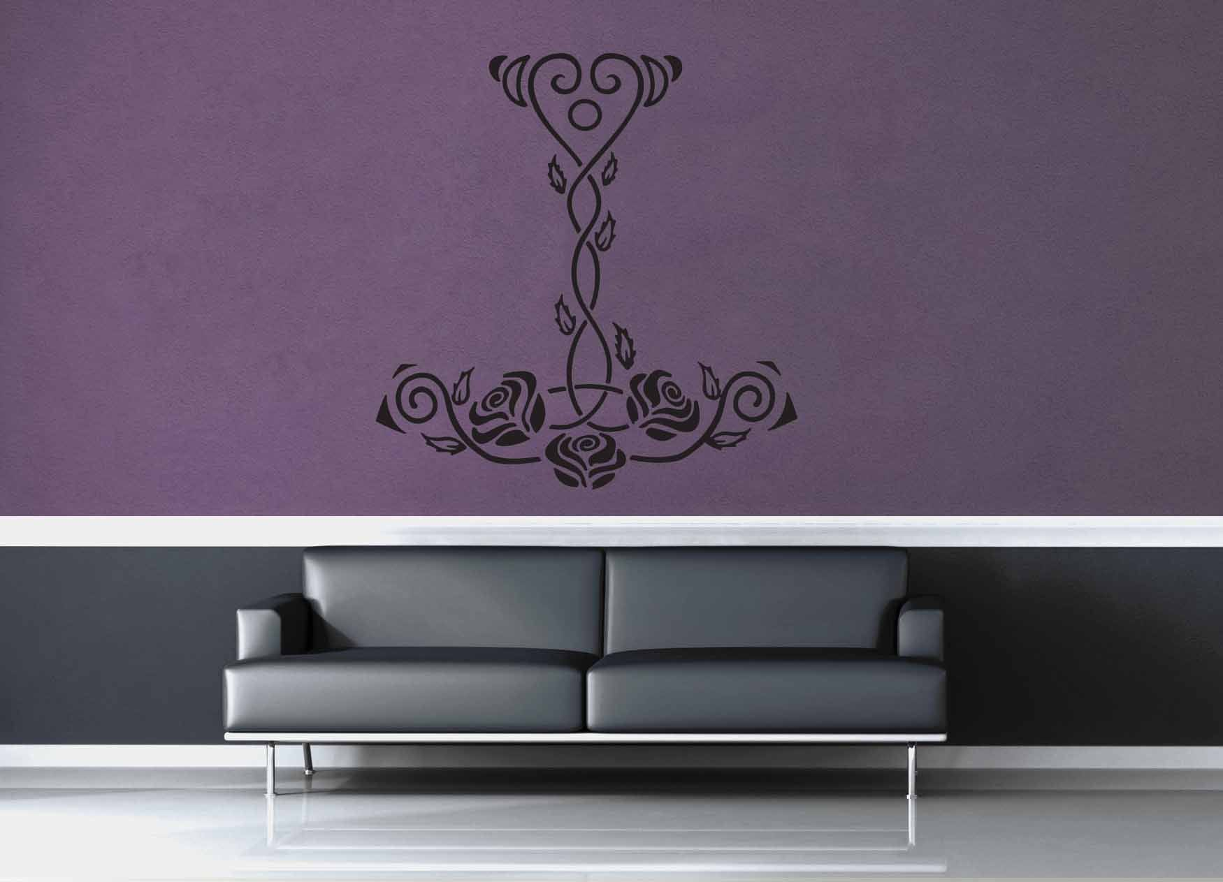 Mjolnir's Roses - Wall Decal