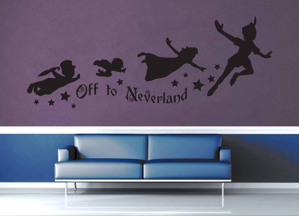 Off to Neverland - Peter Pan Quote - Wall Decal - geekerymade