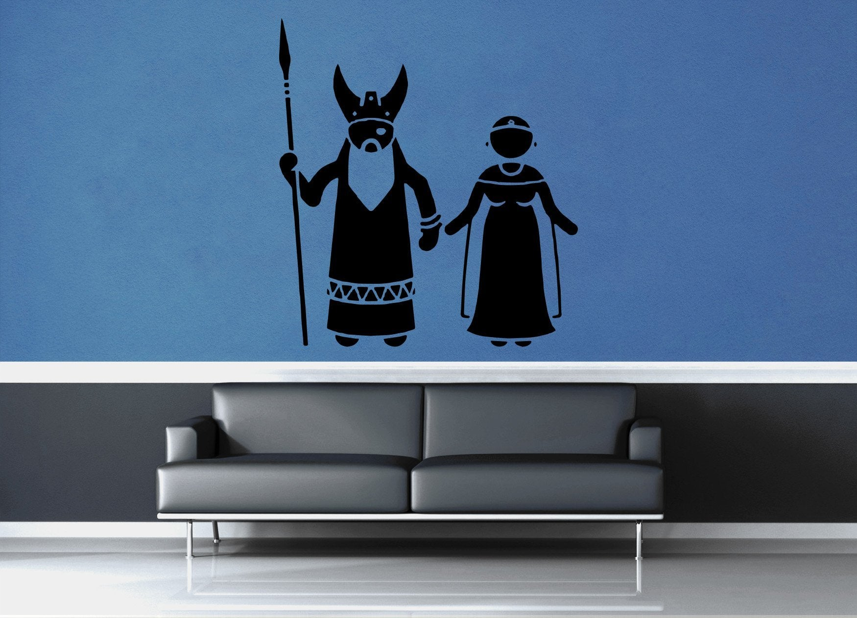 Odin and Frigg - No 2 - Wall Decal