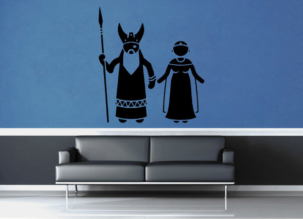 Odin and Frigg - No 2 - Wall Decal - geekerymade