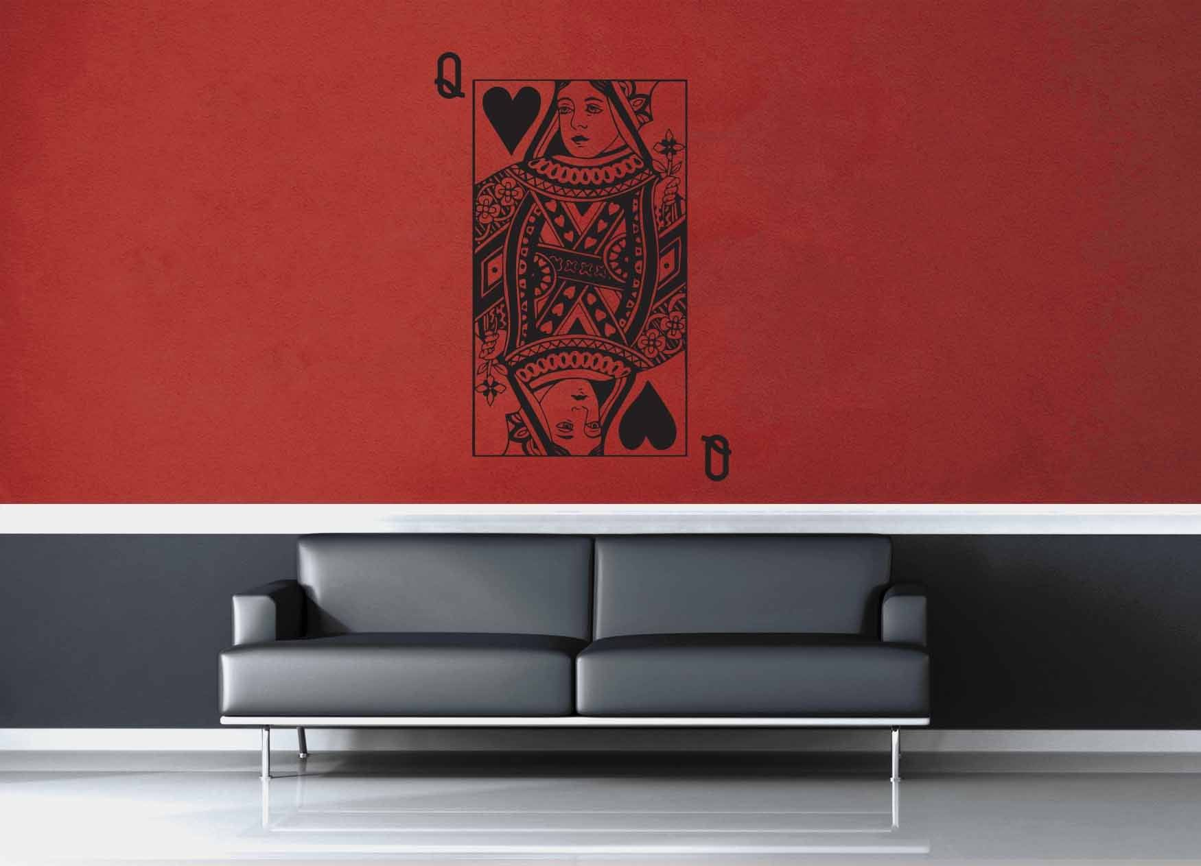 Queen of Hearts - Wall Decal
