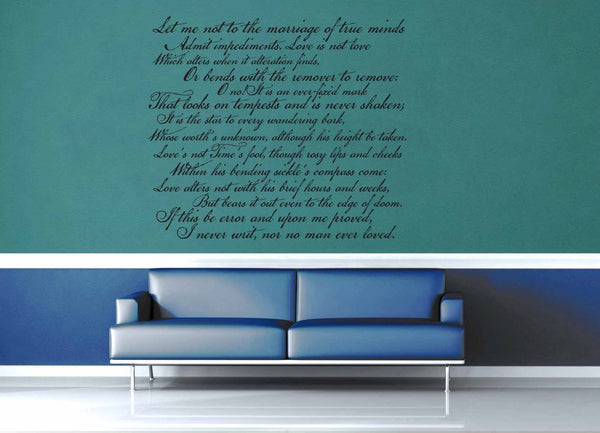 Shakespeare Sonnet No 116 - Wall Decal - geekerymade