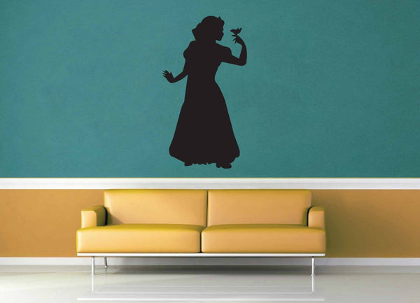 Snow White Silhouette - No 2 - Wall Decal