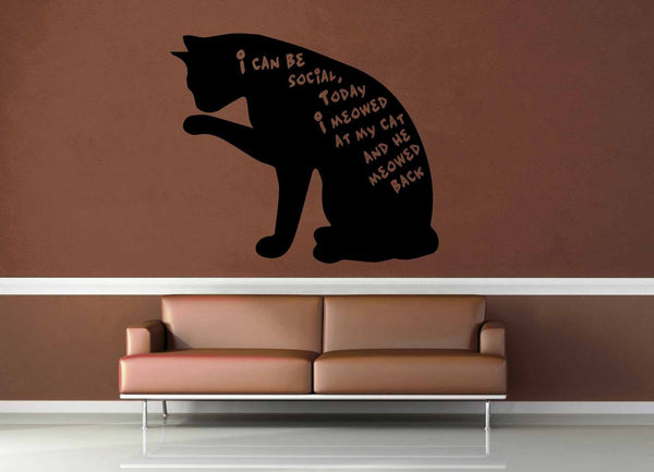 Social Cat - Wall Decal - geekerymade