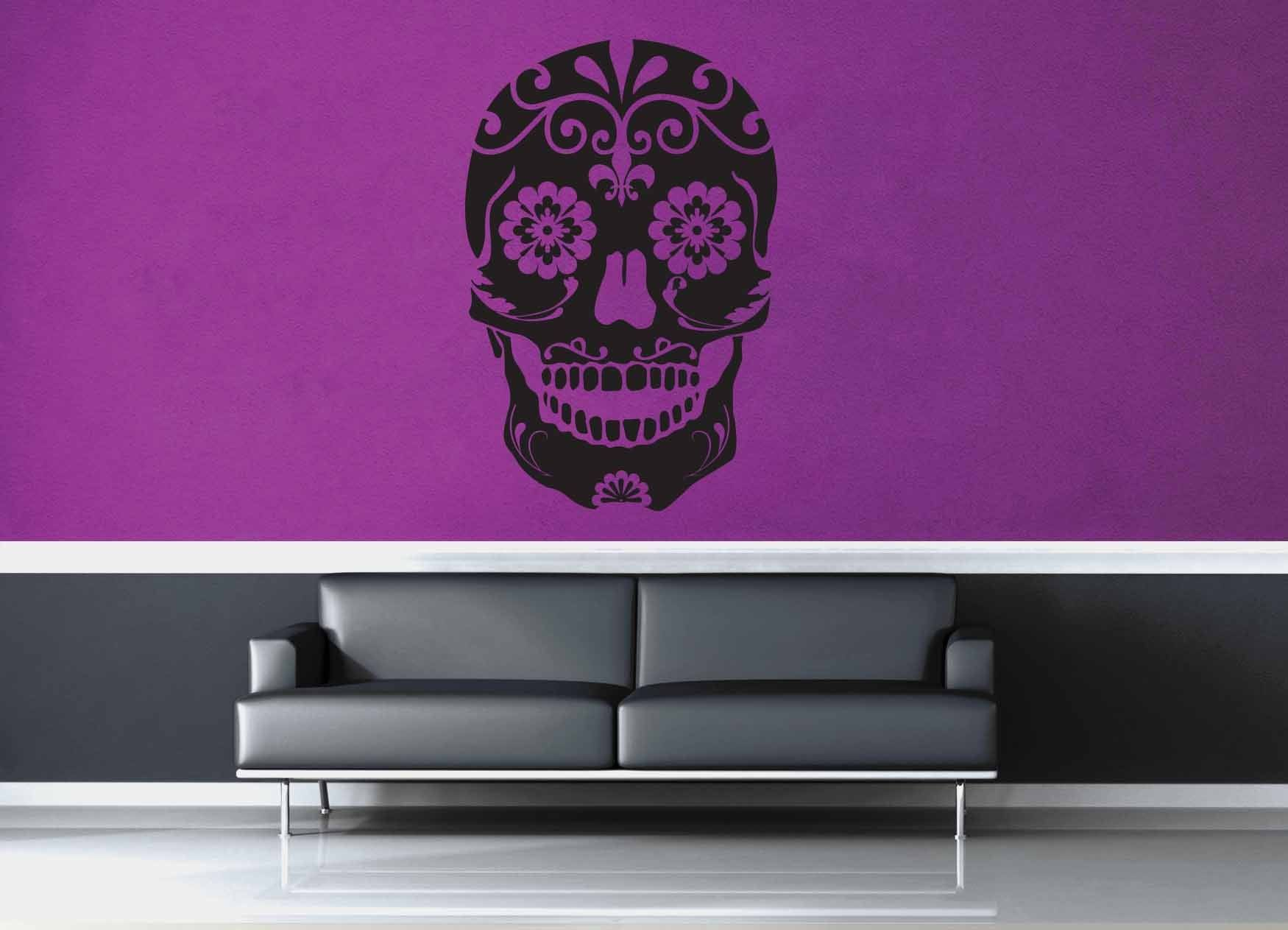 Sugar Skull - Wall Decal - No 2