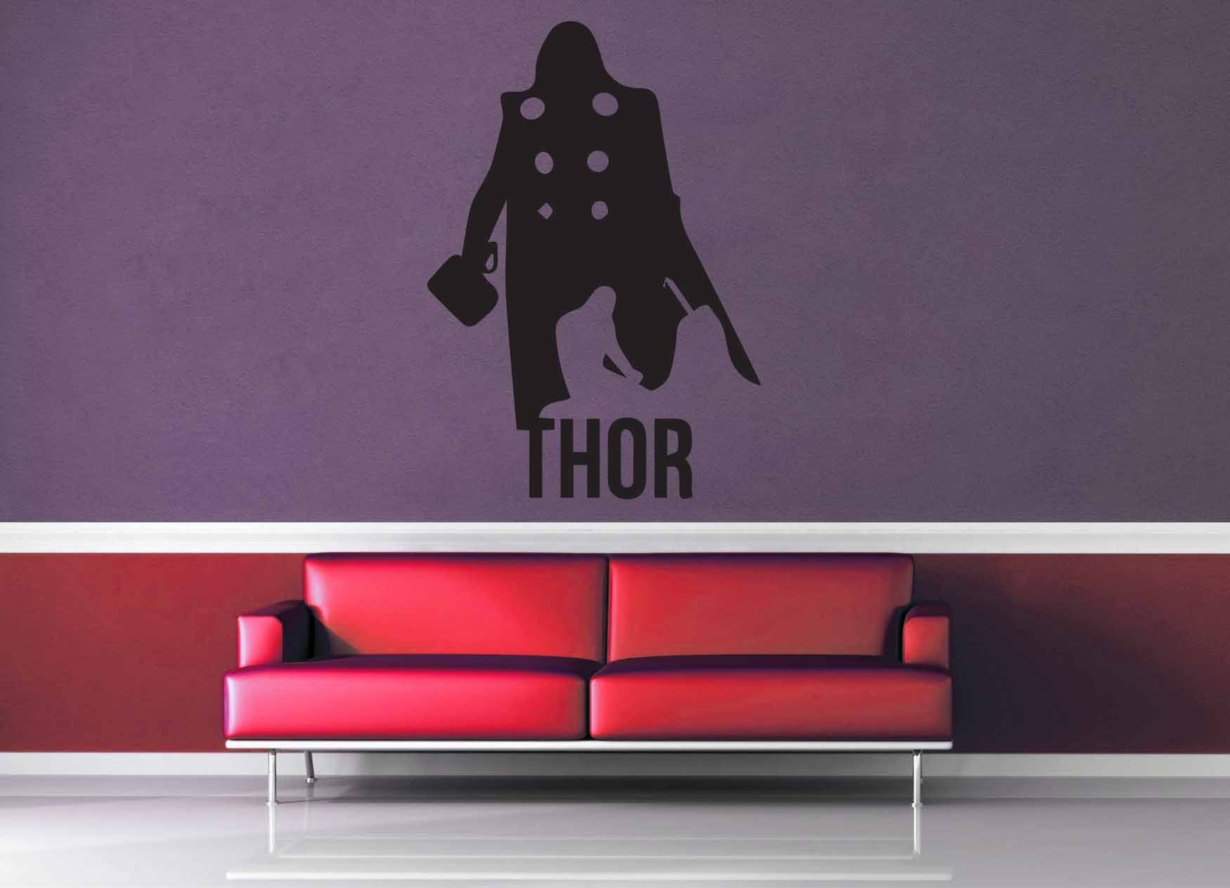 Thor Silhouette - Wall Decal