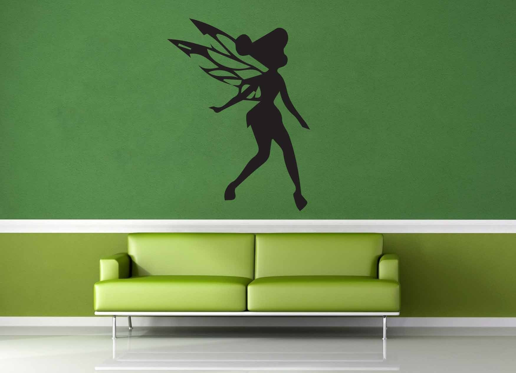 Tinkerbell silhouette wall decal no 2 geekerymade tinkerbell silhouette wall decal no 2 amipublicfo Images