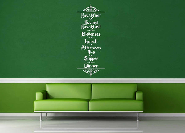 Hobbit Menu - Tolkien Quote - Wall Decal - geekerymade