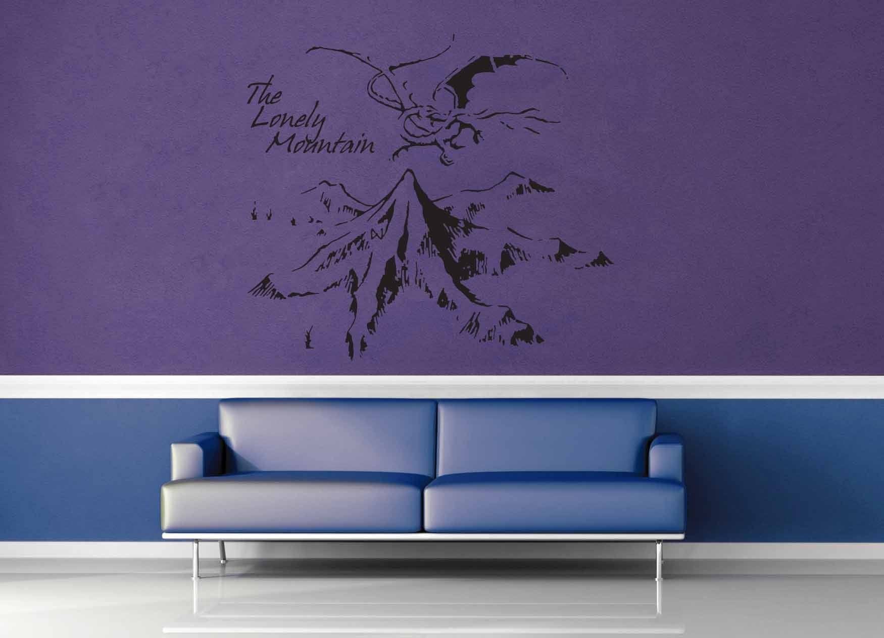 The lonely mountain tolkien wall decal geekerymade the lonely mountain tolkien wall decal amipublicfo Choice Image