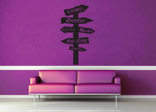 Tolkien Road Sign - Wall Decal - No 3 - geekerymade