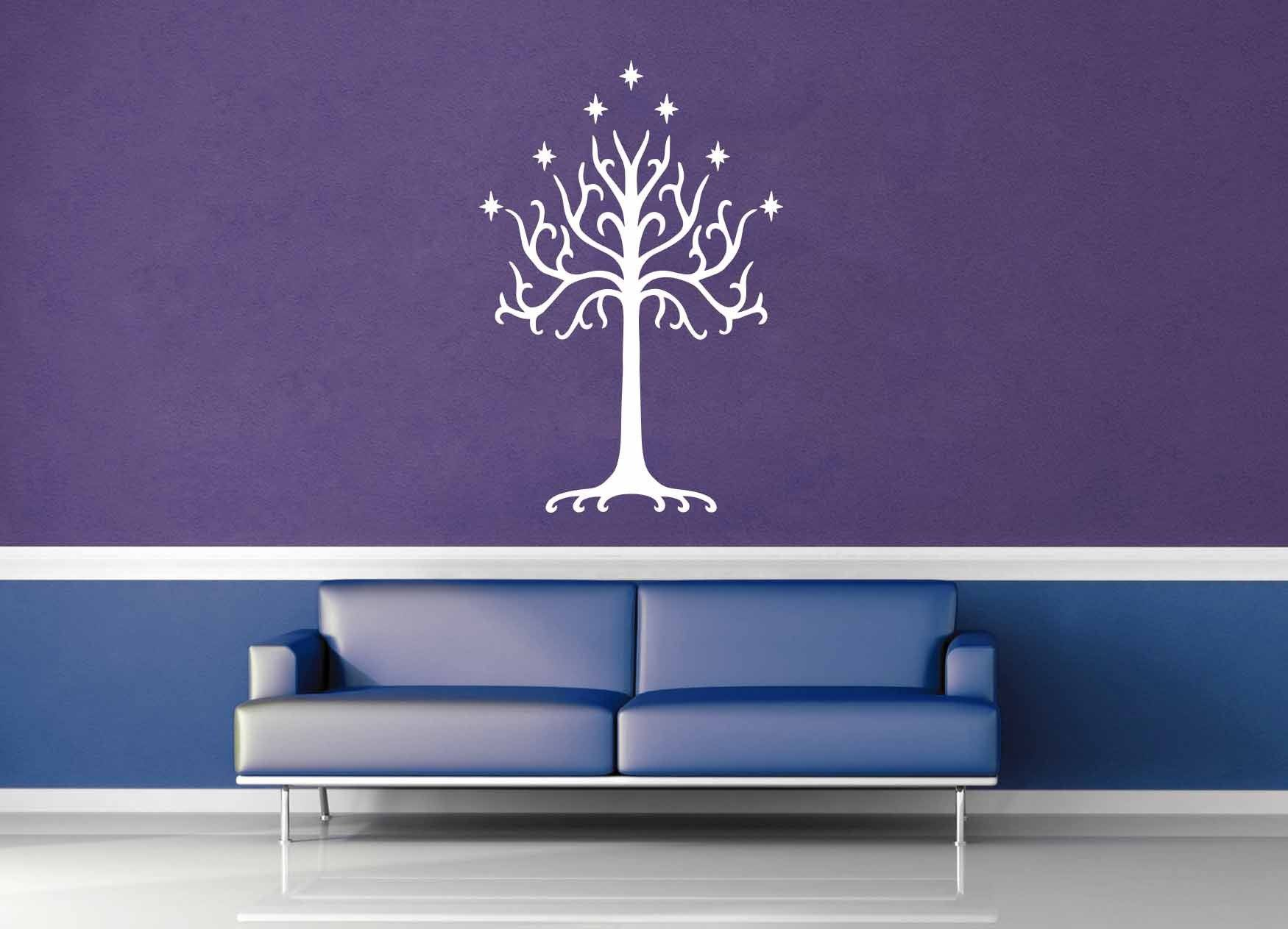 White Tree Of Gondor Tolkien Wall Decal Geekerymade - Wall decals white tree