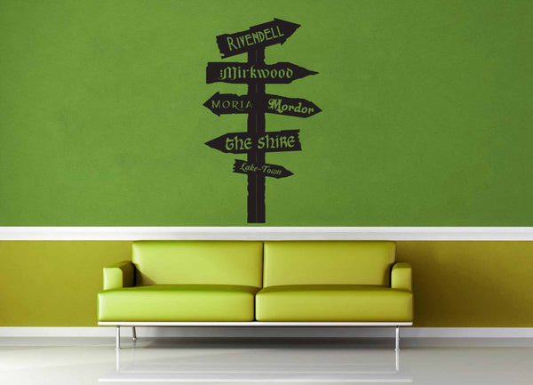 Tolkien Road Sign - Wall Decal - No 1