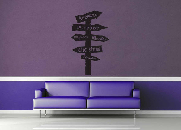 Tolkien Road Sign - Wall Decal - No 2 - geekerymade