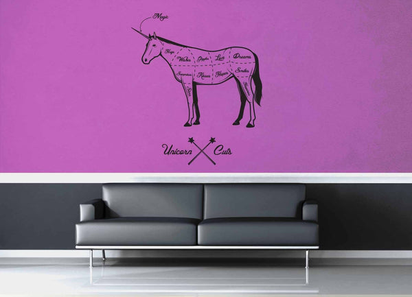 Unicorn Cuts - Wall Decal