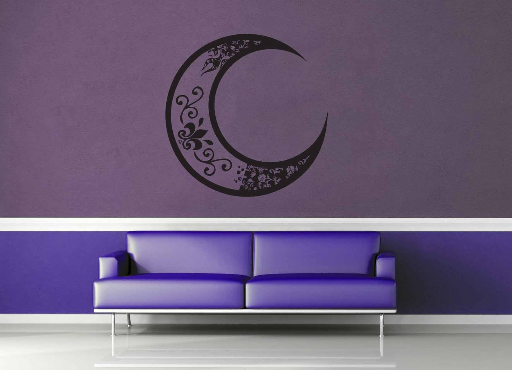 Whimsical Moon - Wall Decal - geekerymade