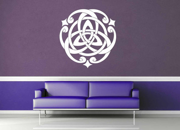 Whirling Trinity Knot - Wall Decal