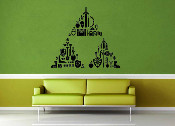 Triforce Treasure Trove - Legend of Zelda - Wall Decal - geekerymade
