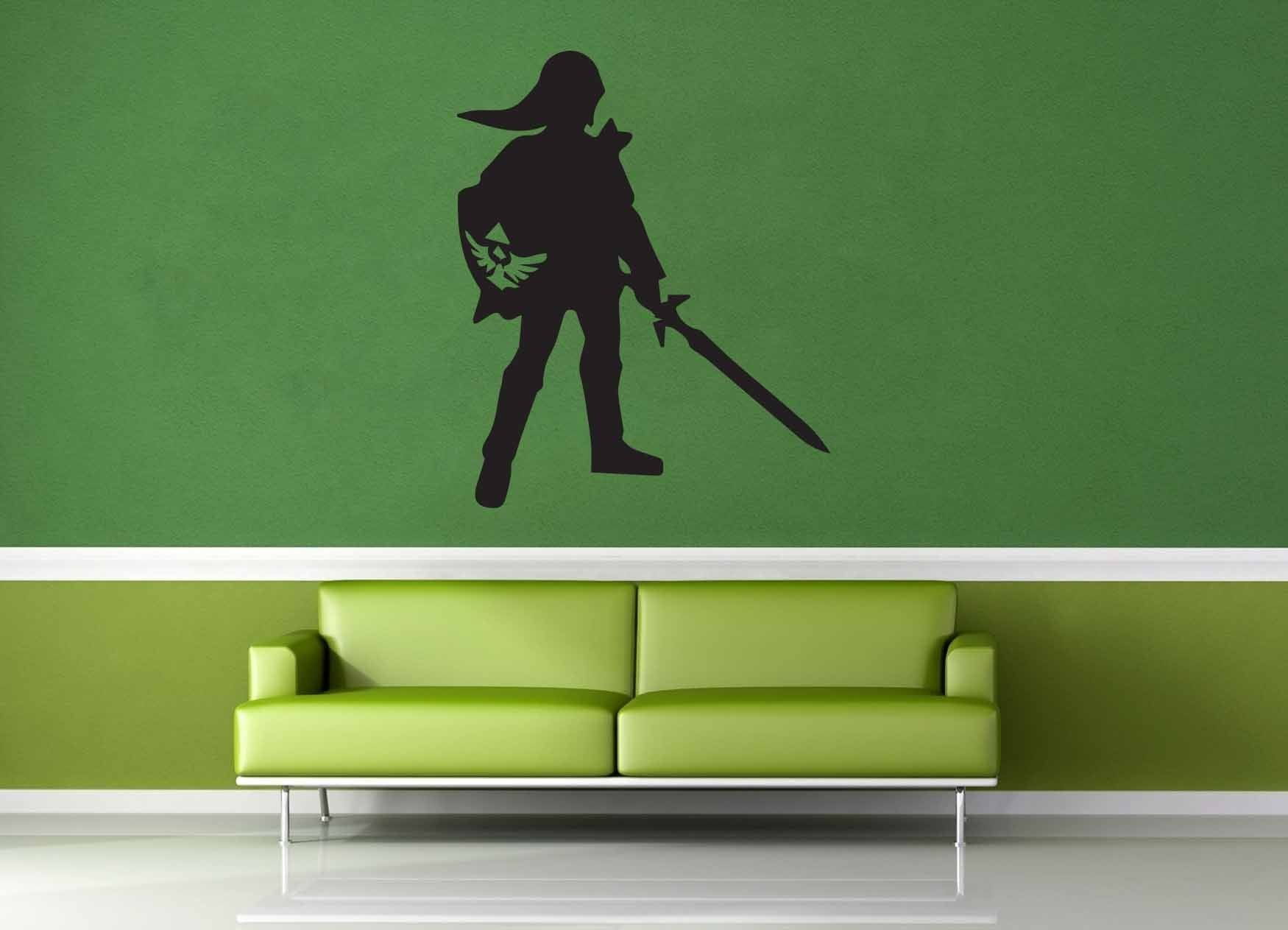 Link Silhouette - Legend of Zelda - Wall decal