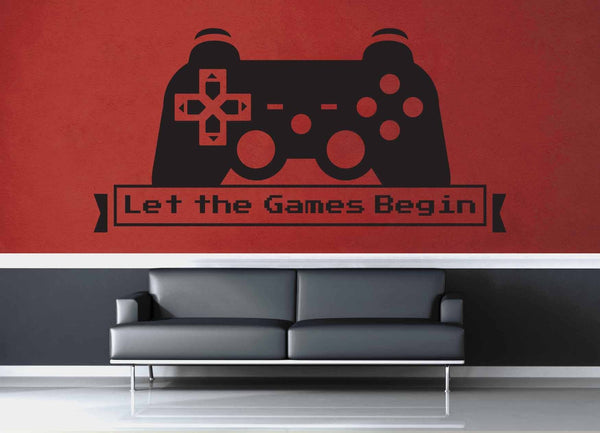 Let the Games Begin - Gamer Décor - Wall Decal - geekerymade