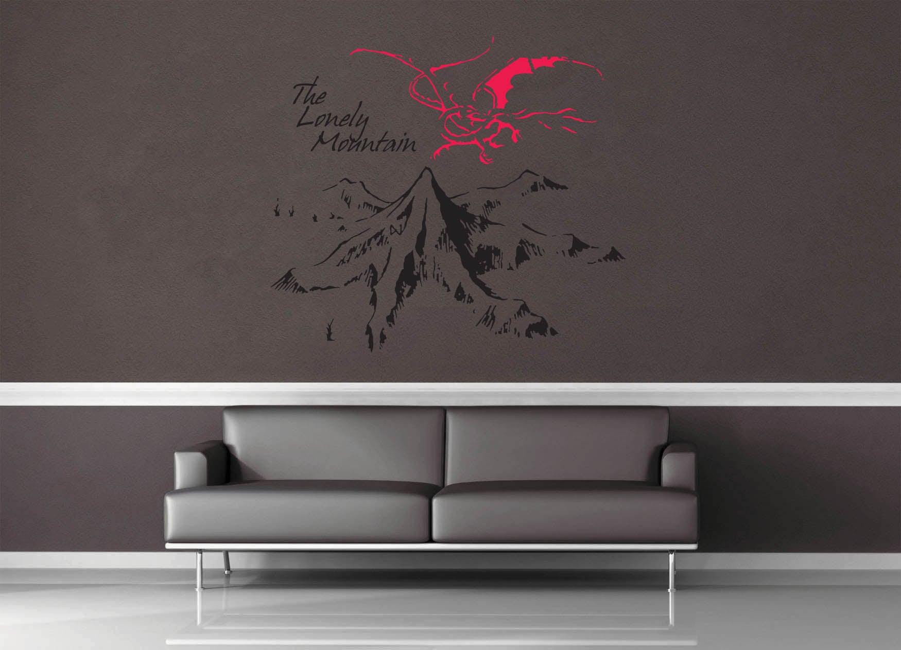 The Lonely Mountain - Tolkien - Wall Decal - Two Tone