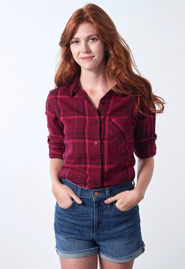 Sawyer Shirt - Cranberry Plaid