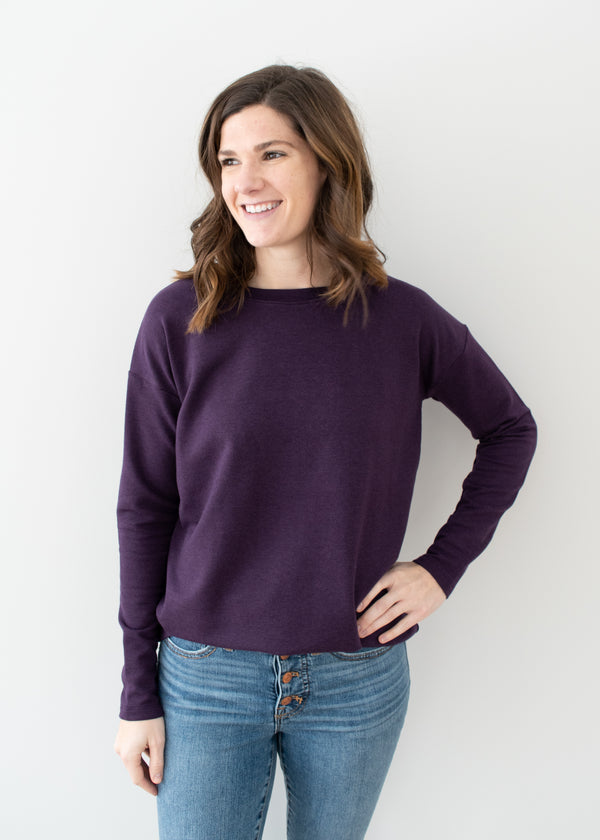 Charlotte Sweatshirt - Dark Purple - Size S