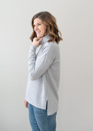 Allie Mockneck - Heather Grey - Size M