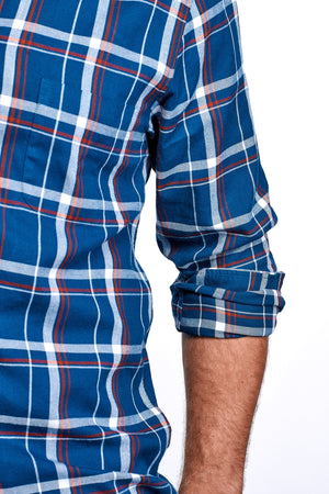 Axel Shirt - Sailor Blue & Red Plaid