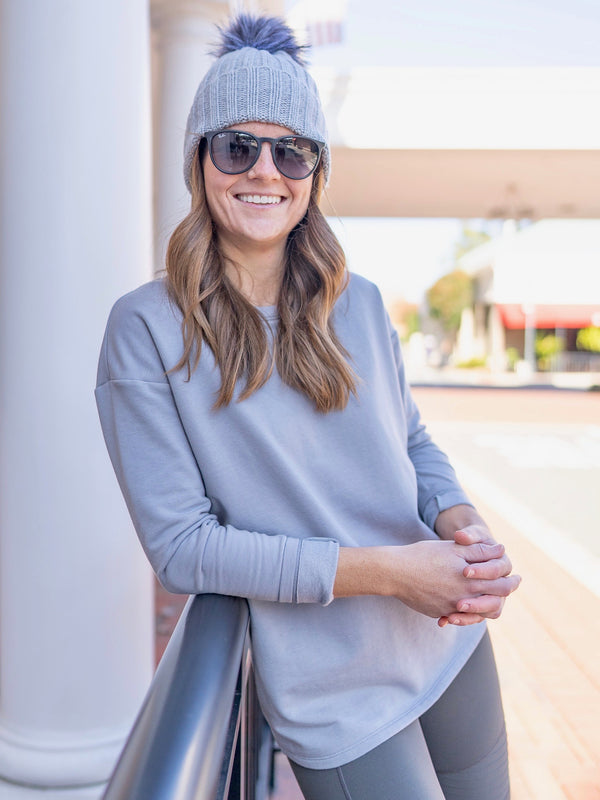 Charlotte Sweatshirt - Pebble Grey