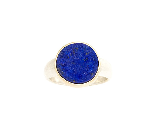 Rough Top Lapis Ring