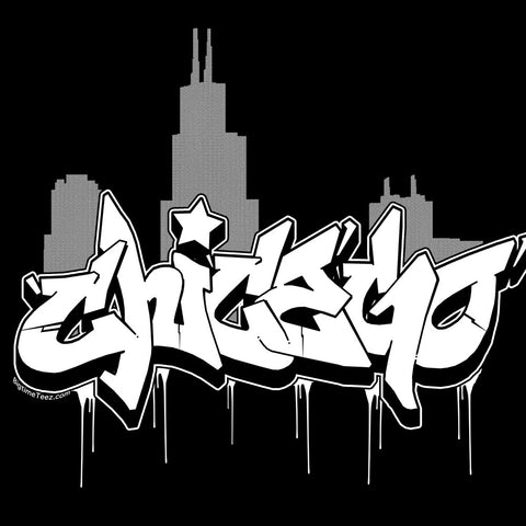 Chicago Graffiti Skyline