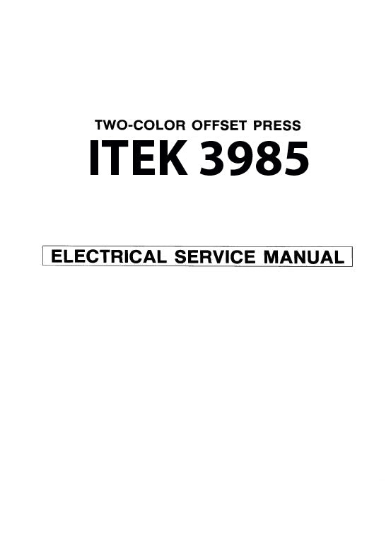 ITEK 3985 ELECTRICAL SERVICE MANUAL (PDF)
