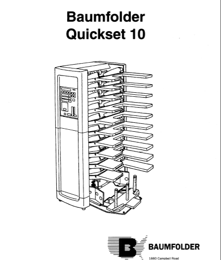 BAUM QUICKSET 10 SERVICE MANUAL (PDF)