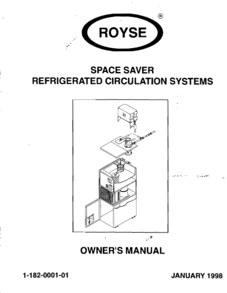 ROYSE CHILLER OWNER'S & PARTS MANUAL (PDF)
