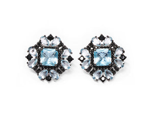Aqua Baroque Beauty Earrings