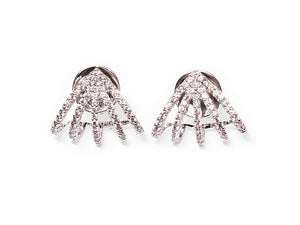 White Pentapus Earrings