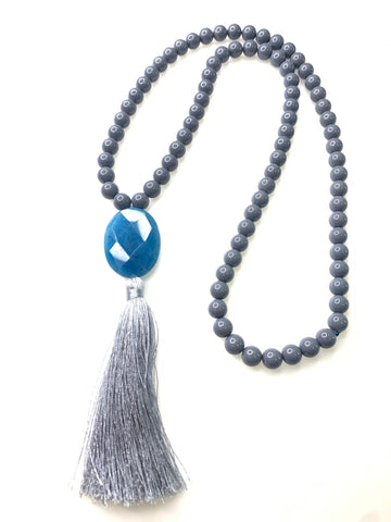 Alicia Pendant and Tassel Necklace