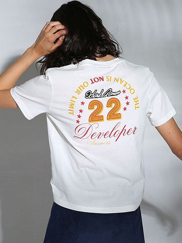 White Letter And Number Print Short T-shirt