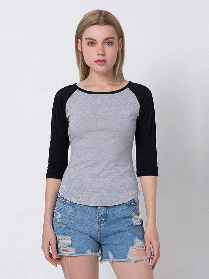 Gray Contrast Half Sleeve T-shirt