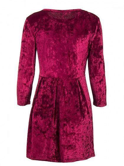 Burgundy Velvet Mini Dress