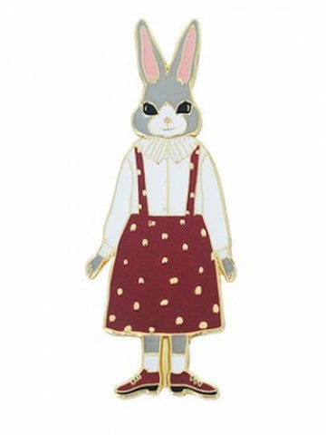 Multicolor Cute Rabbit Design Brooch