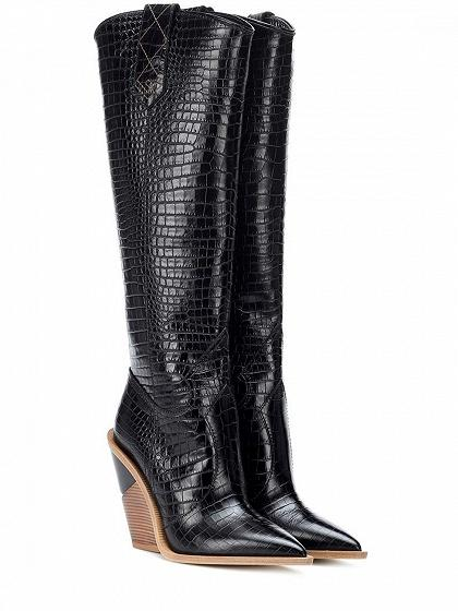 11e9f6ec6fbd2 Black Stripe Microfiber Pointed Toe High Heeled Over The Knee Boots ...